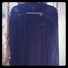 "Selling this ""Sheer black cardigan"" in my Poshmark closet! My username is: mbandino. #shopmycloset #poshmark #fashion #shopping #style #forsale #Mossimo Supply Co #Tops"