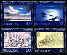 Bermuda Halley's Comet Stamps Halley's Comet, Postage Stamps, All Over The World, Pandora, Art, Art Background, Kunst, Stamps, Performing Arts