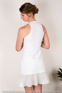 loving this all white dress , worn by Allie Stokes from Hannah Claire's summer range www.hannahclaire.co.nz