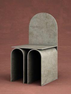 Chair by Francesco Balzano Furniture Ads, Classic Furniture, Unique Furniture, Cheap Furniture, Industrial Furniture, Furniture Design, Brutalist Furniture, Geometric Furniture, Minimalist Furniture