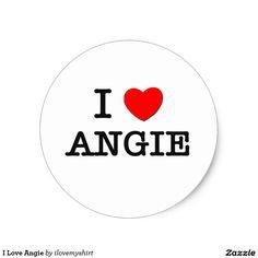 I Love Angie Classic Round Sticker