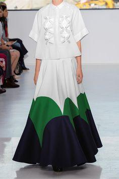 DELPOZO | Color-block cotton-poplin maxi skirt | NET-A-PORTER.COM