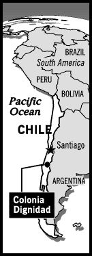 Map of Chile showing Colonia Dignidad http://www.subliminalnews.com/colonia_dignidad/page2.html