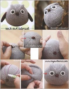 My Owl Barn: Easy Sock Owl DIY