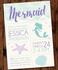 Under the Sea Baby Shower, Little Mermaid Baby Shower Invitation, Mermaid Baby Shower Invitation