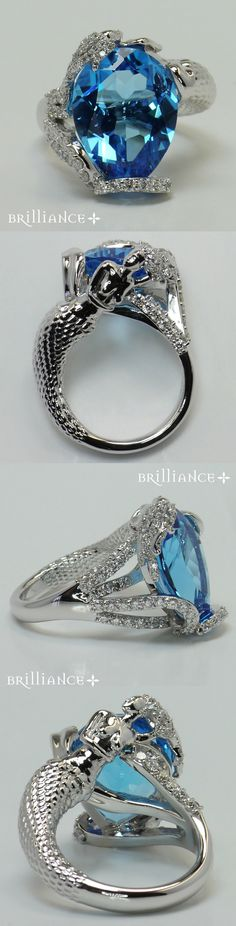 Exquisite Mermaid Setting & Breathtaking Sapphire Center Stone by Brilliance.com