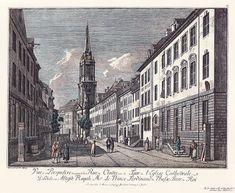 Berlin,Klosterstraße mit Parochialkirche, 1780, Johann Georg Rosenberg