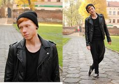 Black is such a happy color (by Przemek S.) http://lookbook.nu/look/4157876-Black-is-such-a-happy-color