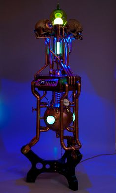 """""""The Dimensional Analysis Engine - Steampunk Art Sculpture - Coppersteam"""" !...Time Space Soundscapings Machine !...  http://about.me/Samissomar"""