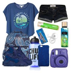 """Fernanda going camping🌚"" by pocket-full-of-rainbows ❤ liked on Polyvore featuring Victoria's Secret, Hollister Co., Vera Bradley, NIKE, Fujifilm, Dolce&Gabbana and jeferci"