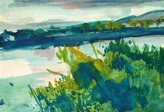 Bernáth, Aurél Landscape near the Danube, 1975 Paintings, Artists, Landscape, Scenery, Paint, Painting Art, Painting, Painted Canvas, Drawings