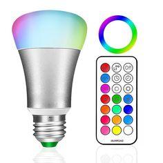 E27 RGB LED Lamp 10W LED RGB Bulb 110V 220V 12 Colors Remote Control Led Light for Home Decoration Stage Lighting RGBW Led Lamp