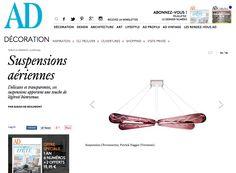 The Veronese Chromosome Suspension featured in June 2015 online edition as part of a unique collection of contemporary lighting design.  #veroneseparis #muranoglass #lightingdesign #interiordesign #designers #architects