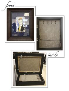 One of the kind framed illustration that opens to reveal a hidden jewelry box! Created at Art  Frame Express in Edison, NJ