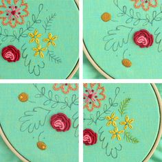 Sweet Posy Embroidered Hoop Art Tutorial | Sew Mama Sew | Outstanding sewing, quilting, and needlework tutorials since 2005.