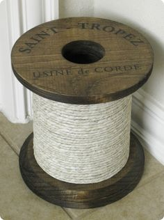 Decorative Rope Spool - a Ballard Designs knock off