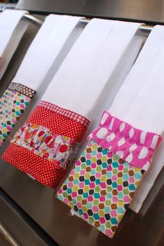 Cute dish towels--use for sewing scraps