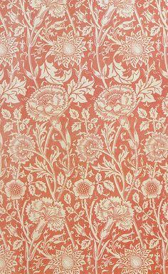Morris & C. 'Pink and Rose' wallpaper