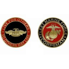 FMF Corpsman Challenge Coin want it Navy Corpsman, Military Challenge Coins, Female Marines, Home Of The Brave, Real Hero, American Soldiers, Coin Collecting, Usmc, Challenges