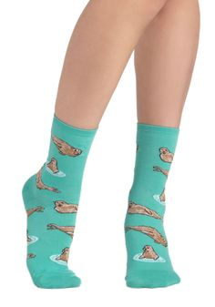 Wearable Whimsy Socks in Seals, #ModCloth