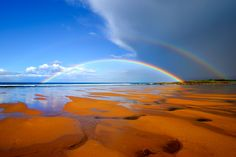 Double rainbow on Tyninghame Beach, East Lothian, Scotland © Copyright Michael Stirling-Aird 2008