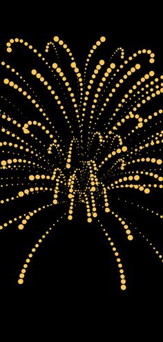 I love the dot look to this firework