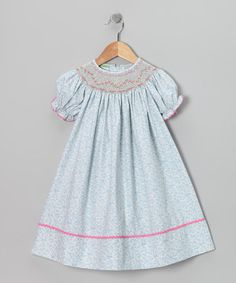 Take a look at this White Blueberry Smocked Bishop Dress - Infant, Toddler & Girls by Candyland on #zulily today!