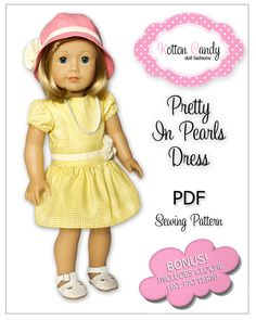 PDF Sewing Pattern for 18 Inch American by KottonCandyPatterns, $4.99