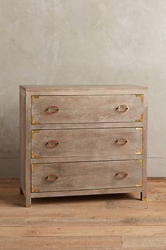 "$638 Portside Three-Drawer Dresser - anthropologie.com. 35""H, 37.5""W, 18""D"