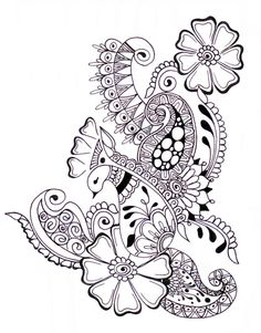 Livros de colorir para adultos - 125 desenhos para imprimir, Desenhos para Colorir