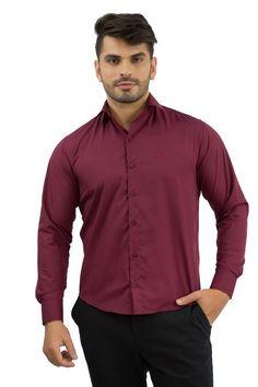 Camisa Social Masculina Vinho