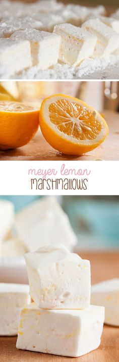 These Meyer Lemon Marshmallows are soft and fluffy and taste like a lemon meringue pie. They're better than anything store-bought, and not hard to make.