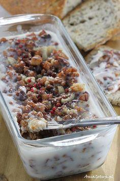 Domowy smalec Polish Recipes, Polish Food, Kielbasa, Winter Food, Aesthetic Food, Kitchen Recipes, Acai Bowl, Sausage, Oatmeal