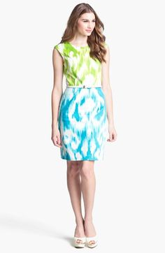 Ellen Tracy Print Sheath Dress | Nordstrom