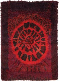 Wool & Rug by Kerittu Parkko for Finnish Handicraft . Wool & Rug by Kerittu Parkko for Friends of Finnish Handicrafts, 1 Rya Rug, Wool Rug, Diy Carpet, Rugs On Carpet, Textile Patterns, Textiles, Latch Hook Rugs, Nordic Design, Tapestry Weaving