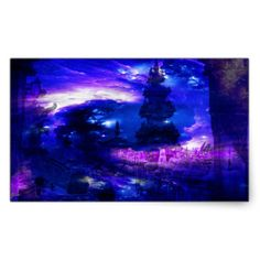 Amethyst Sapphire Bali Dreams Rectangular Sticker