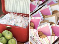 """""""special delivery"""" baby shower - cookies in envelopes"""