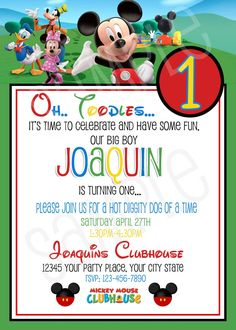 Mickey Mouse Clubhouse Birthday Invitations Best Of Mickey Mouse Invitations Free Printable Mickey Mouse Clubhouse Invitations, Mickey Mouse Clubhouse Birthday Party, Mickey Birthday, Mickey Party, Printable Birthday Invitations, 2nd Birthday, Elmo Party, Invites, Dinosaur Party