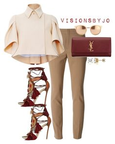 """""""Untitled #1512"""" by visionsbyjo on Polyvore featuring Gucci, Delpozo, Dsquared2, Yves Saint Laurent, Linda Farrow, BERRICLE, women's clothing, women, female and woman"""
