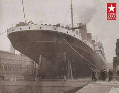 RMS Olympic in Thomson Dry Dock Belfast Ireland