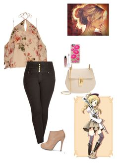 """""""Modern Mami Tomoe"""" by sapphirejones ❤ liked on Polyvore featuring Puella, Casetify, Chloé, Exclusive for Intermix, City Chic and modern"""