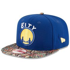 Adult New Era Golden State Warriors Tricked-Trim 9FIFTY Snapback Cap, Multicolor