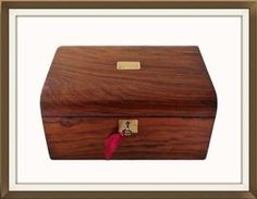 A Beautiful Large Antique Mahogany Jewellery Box. £250. http://www.theoldjewelleryboxshop.co.uk/prod2.cfm?product=91330