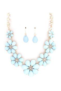 Flora Necklace in Aspen Blue on Emma Stine Limited