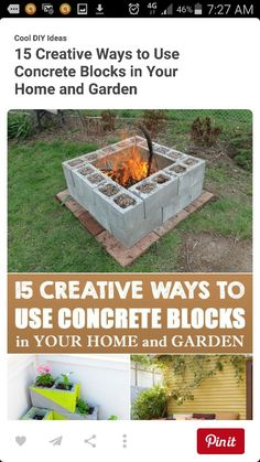 15 Creative Ways to Use Concrete Blocks in Your Home and Garden is part of Diy garden projects - With just some creativity and imagination, you can repurpose these smart blocks into practical furniture or decorative pieces for your home and garden Backyard Projects, Outdoor Projects, Garden Projects, Outdoor Decor, Diy Projects, Diy Yard Decor, Backyard Games, Home Decor, Diy Garden