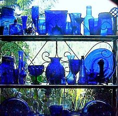 Make The Best of Things: Cobalt Blue Glass in a Sunny Kitchen Window