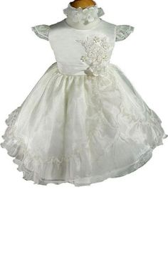 AMJ Dresses Inc Ivory Infant Flower Girl Wedding « Dress Adds Everyday