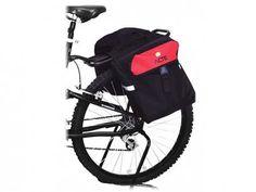 Bolsa para Bagageiro de Bicicleta - com 2 Bolsos Laterais - Acte Sports A27 com as melhores condições você encontra no Magazine Voceflavio. Confira!