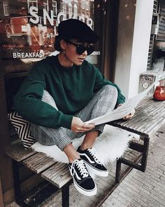 20 Edgy Fall Street Style 2018 Copy Outfits - Cool S .- 20 Edgy Fall Street Style 2018 Outfits zum Kopieren – Cool Style 20 Edgy Fall Street Style 2018 Outfits for Copy - Autumn Fashion Casual, Fall Fashion Trends, Casual Fall, Trendy Fashion, Fashion Vintage, Plaid Fashion, Fashion Bloggers, Street Fashion, Fashion Ideas