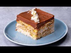 Banány + krém + sušenky = ideální kombinace pro všechny milovníky sladkého!  Cookrate - Czech - YouTube Biscuits, Tiramisu, Creme, Ethnic Recipes, Food, Deserts, Ethnic Food, Cookies, Puddings